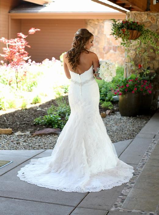 back view of wedding dress