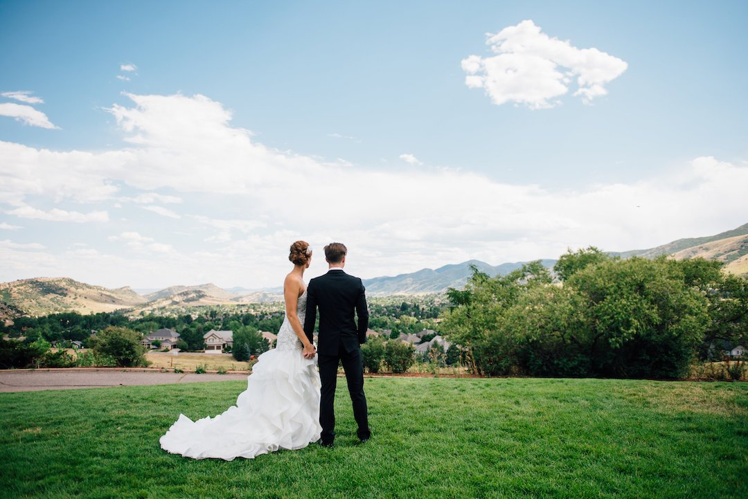 colorado wedding bride and groom