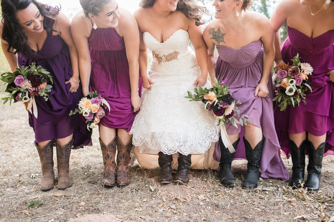 rustic and stylish ranch wedding