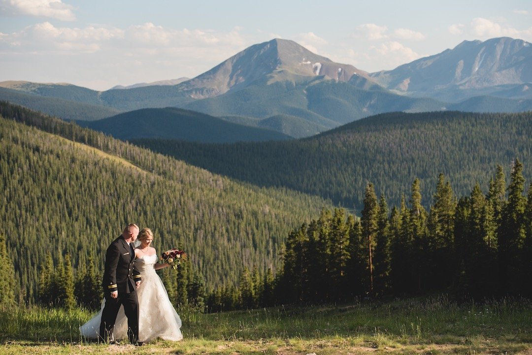 colorado wedding mountains