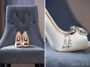 wedding shoes detail shot
