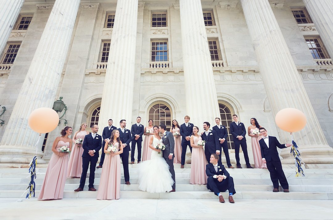 downtown denver wedding party