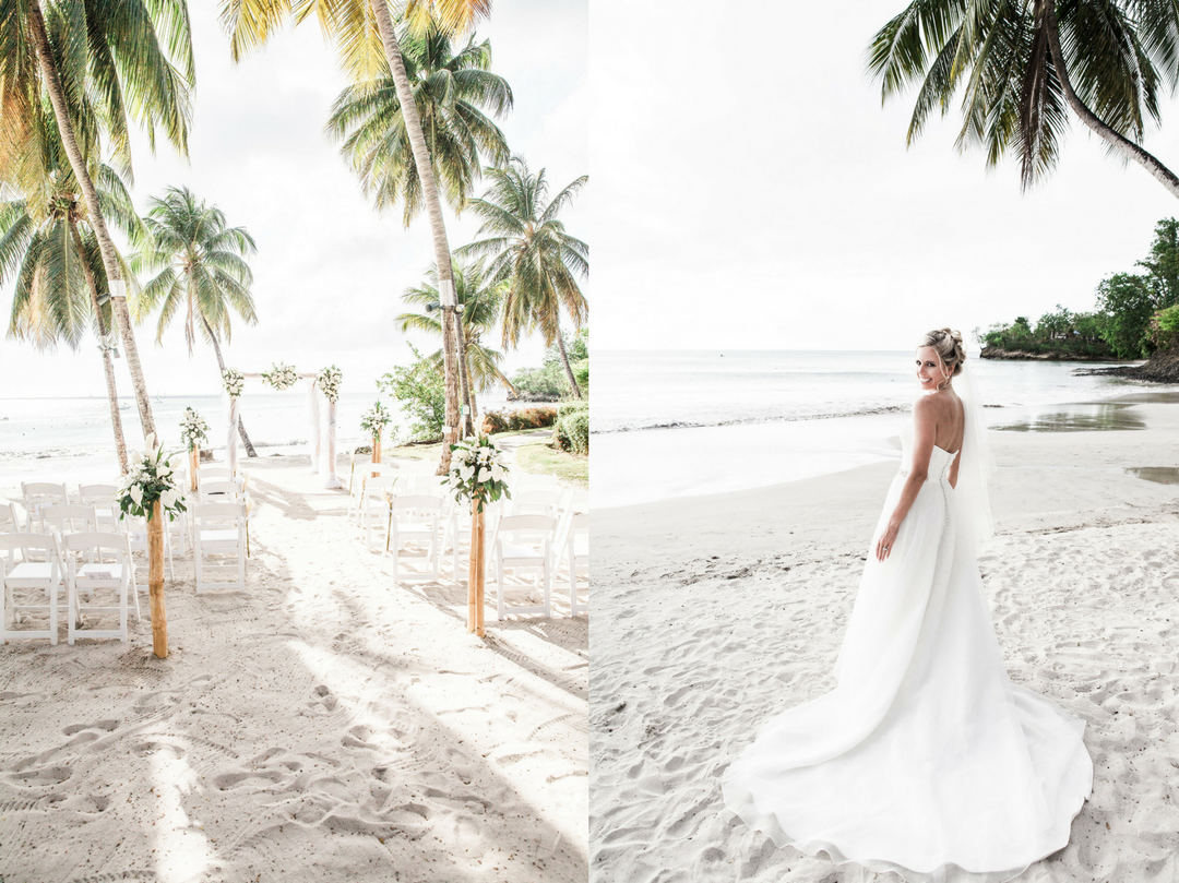 saint lucia beach wedding