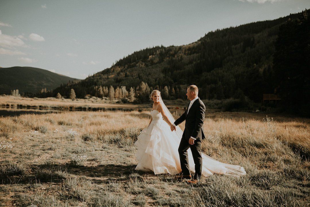 Camp Hale Colorado Wedding | The Bridal Collection Real Bride