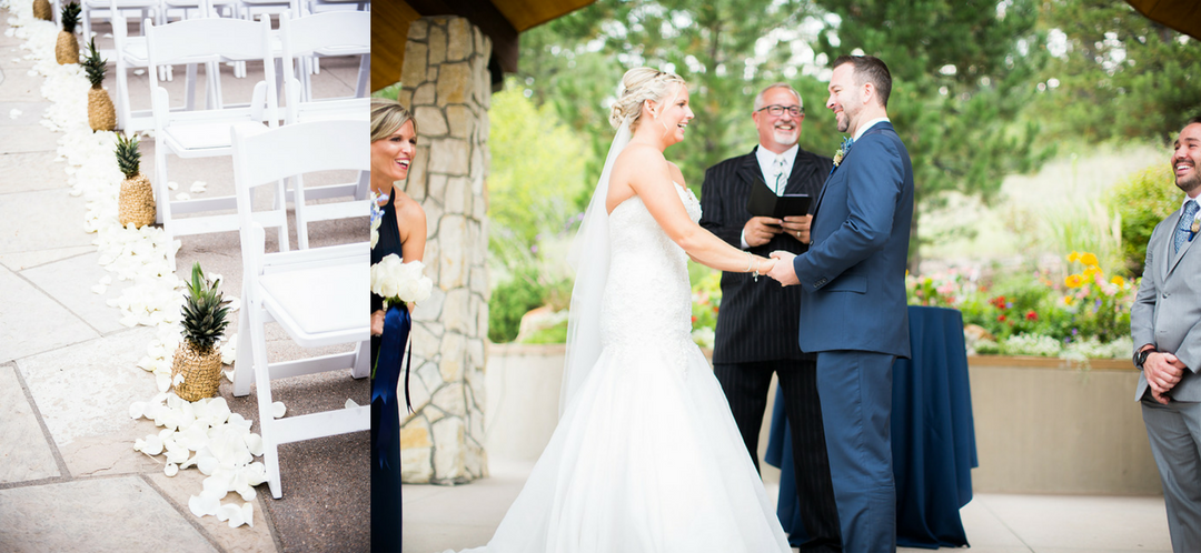 ceremony cielo at castle pines wedding