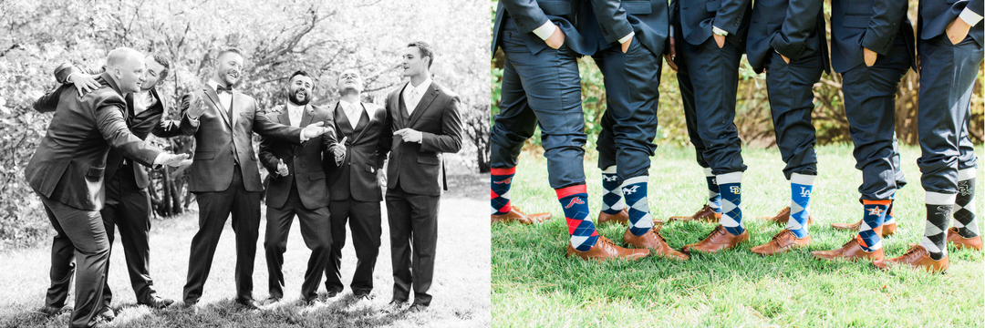 groomsmen and socks