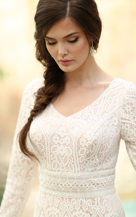 lace modest wedding dress