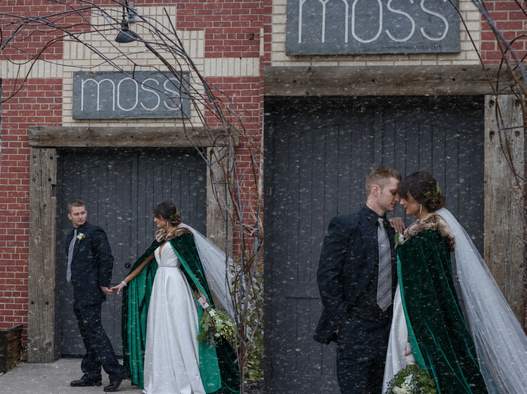winter wedding styled shoot cape