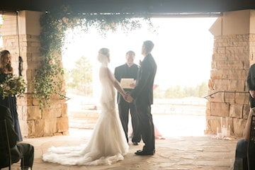 sanctuary golf course wedding ceremony