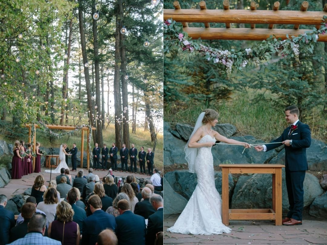 the pines at genesee wedding ceremony